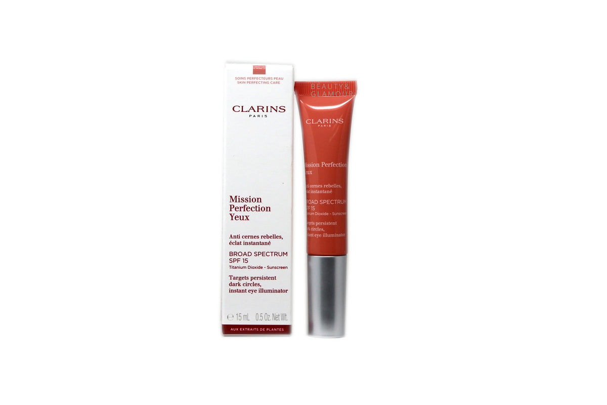 CLARINS MISSION PERFECTION EYE  BROAD SPECTRUM SPF-15