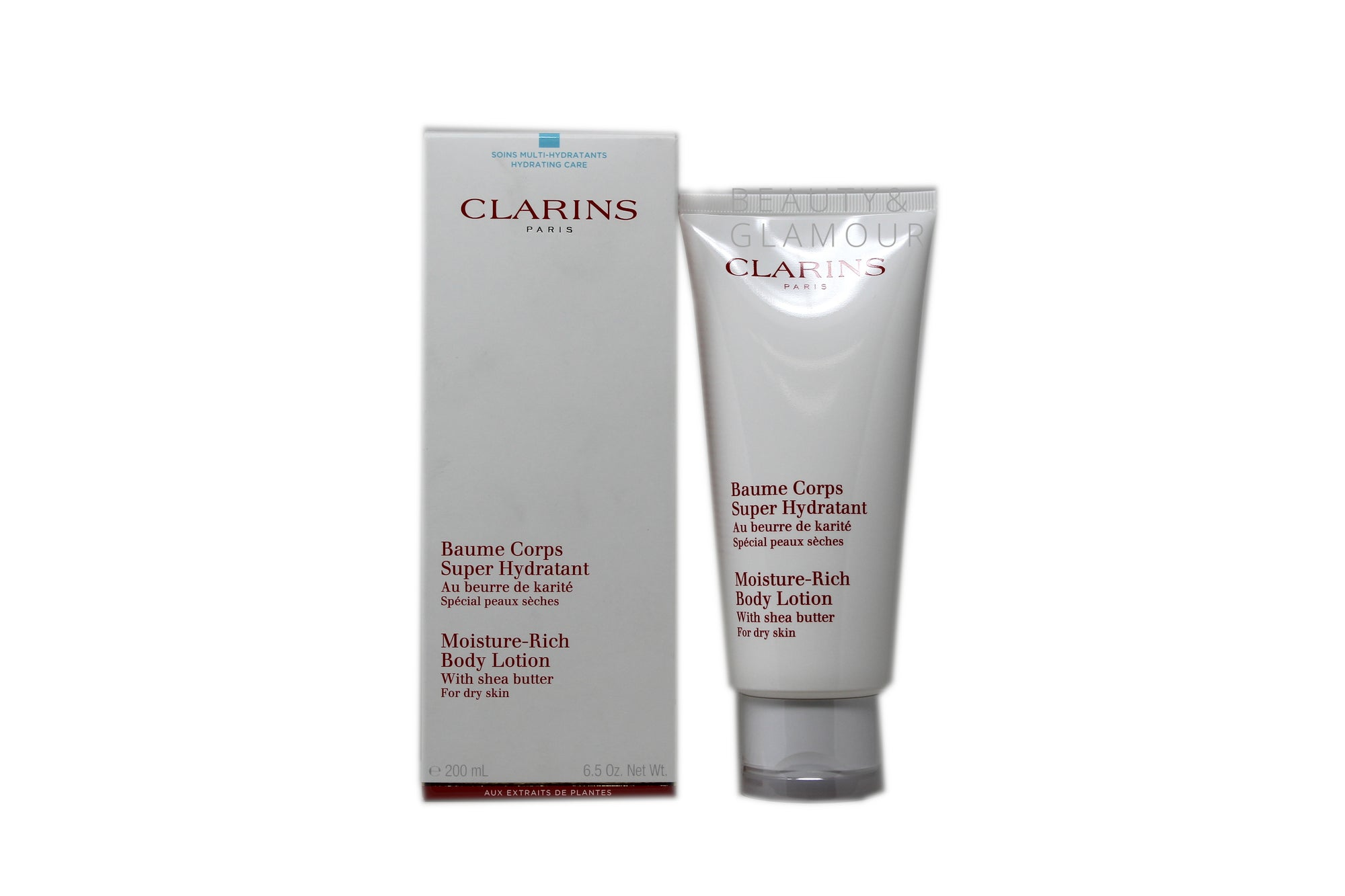 CLARINS MOISTURE-RICH BODY LOTION WITH SHEA BUTTER FOR DRY SKIN AVAILABLE SIZE: 200 ML/6.5 OZ.