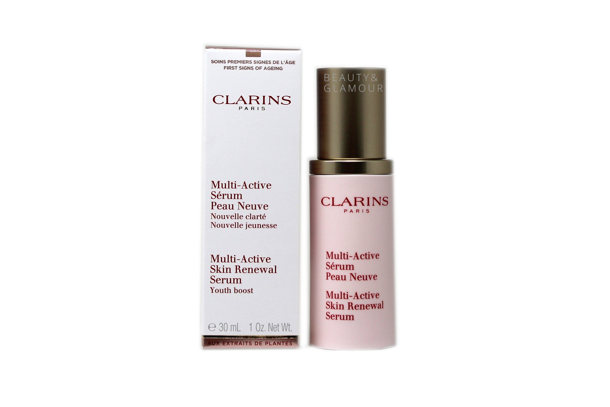 CLARINS MULTI-ACTIVE SKIN RENEWAL SERUM YOUTH BOOST AVAILABLE SIZE: 30 ML/1 FL.OZ