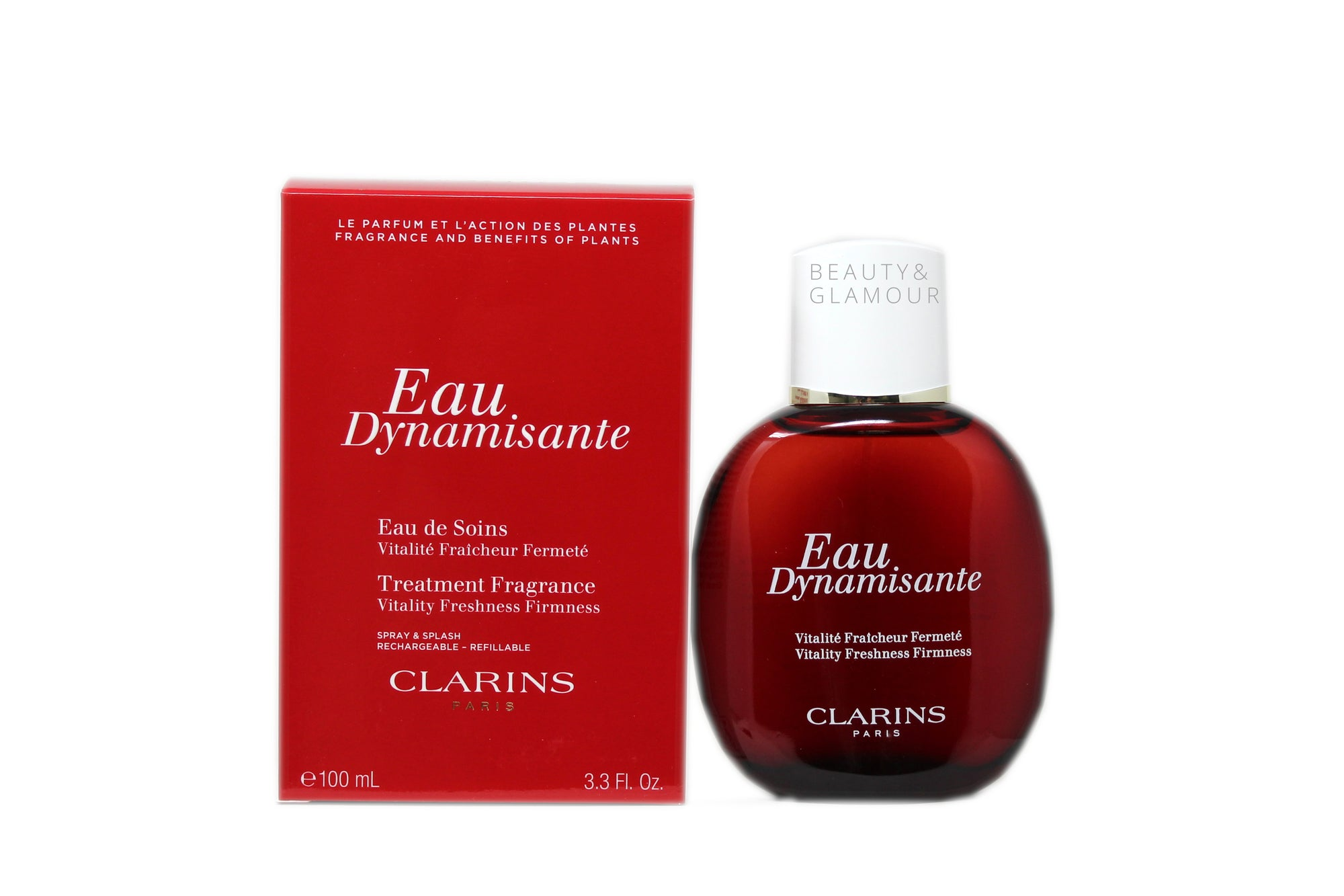 CLARINS EAU DYNAMISANTE TREATMENT FRAGRANCE  SPRAY & SPLASH REFILLABLE  AVAILABLE SIZE: 100 ML/3.3 FL.OZ.