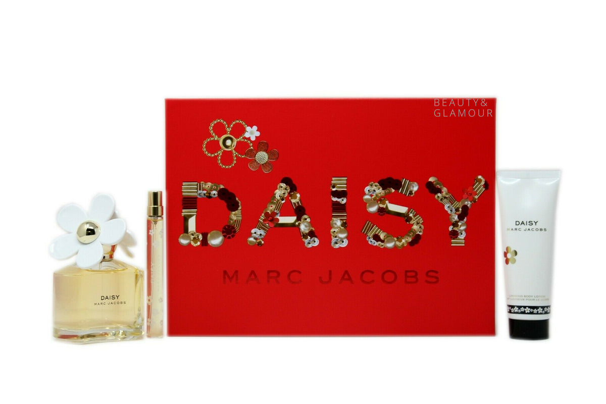 MARC JACOBS DAISY 3 PIECE GIFT SET FOR WOMEN EAU DE TOILETTE SPRAY 100ML