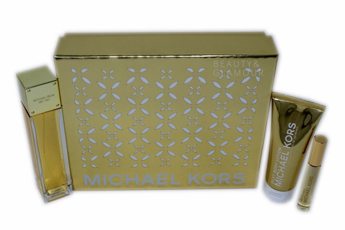 MICHAEL KORS SEXY AMBER DELUXE 3PC GIFT SET EAU DE PARFUM SPRAY 100ML