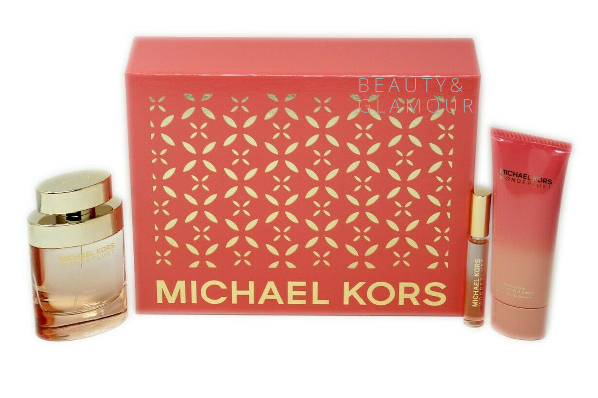 MICHAEL KORS WONDERLUST 3 PIECE GIFT SET EAU DE PARFUM SPRAY 100ML