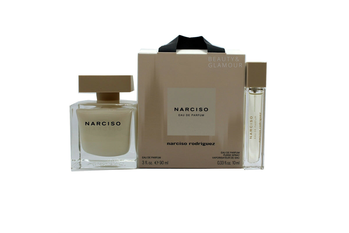 NARCISO RODRIGUEZ 2PC TRAVEL SET WITH EAU DE PARFUM NATURAL SPRAY 90ML