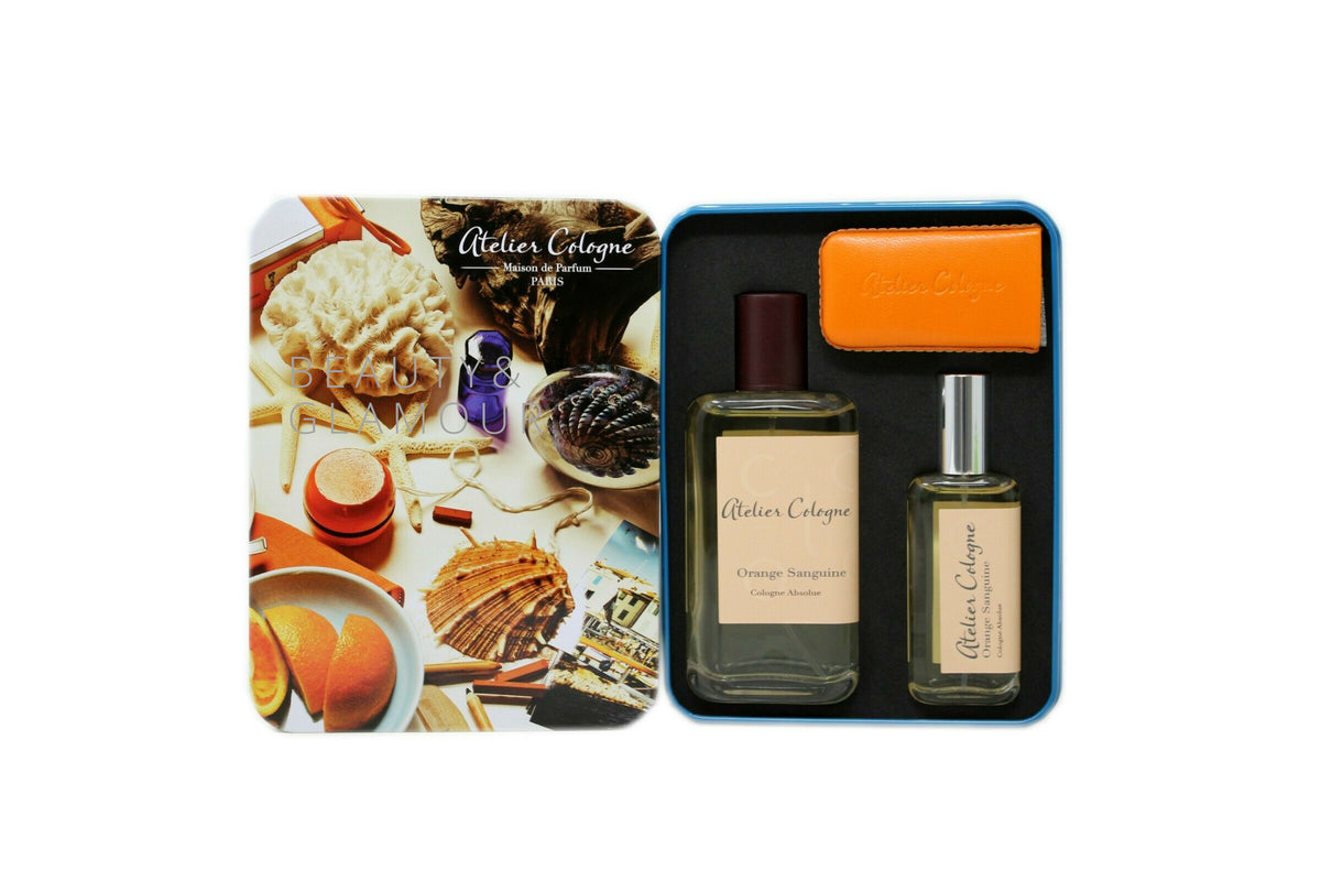 ATELIER COLOGNE ORANGE SANGUINE COLOGNE ABSOLUE (PURE PERFUME) SET