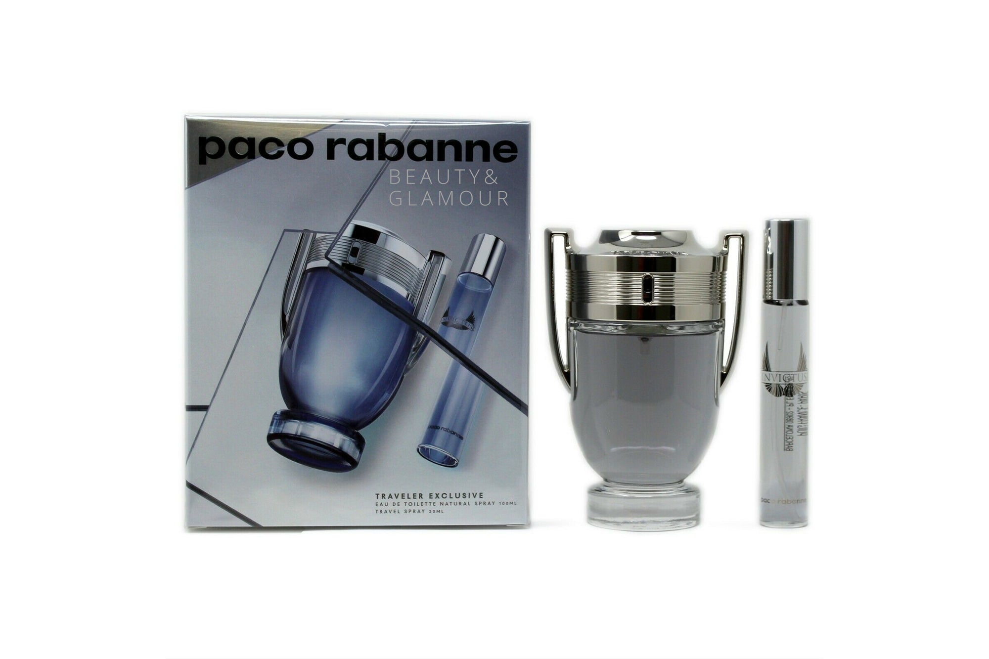 PACO RABANNE INVICTUS 2 PIECE TRAVEL SET FOR MEN EAU DE TOILETTE SPRAY 100ML