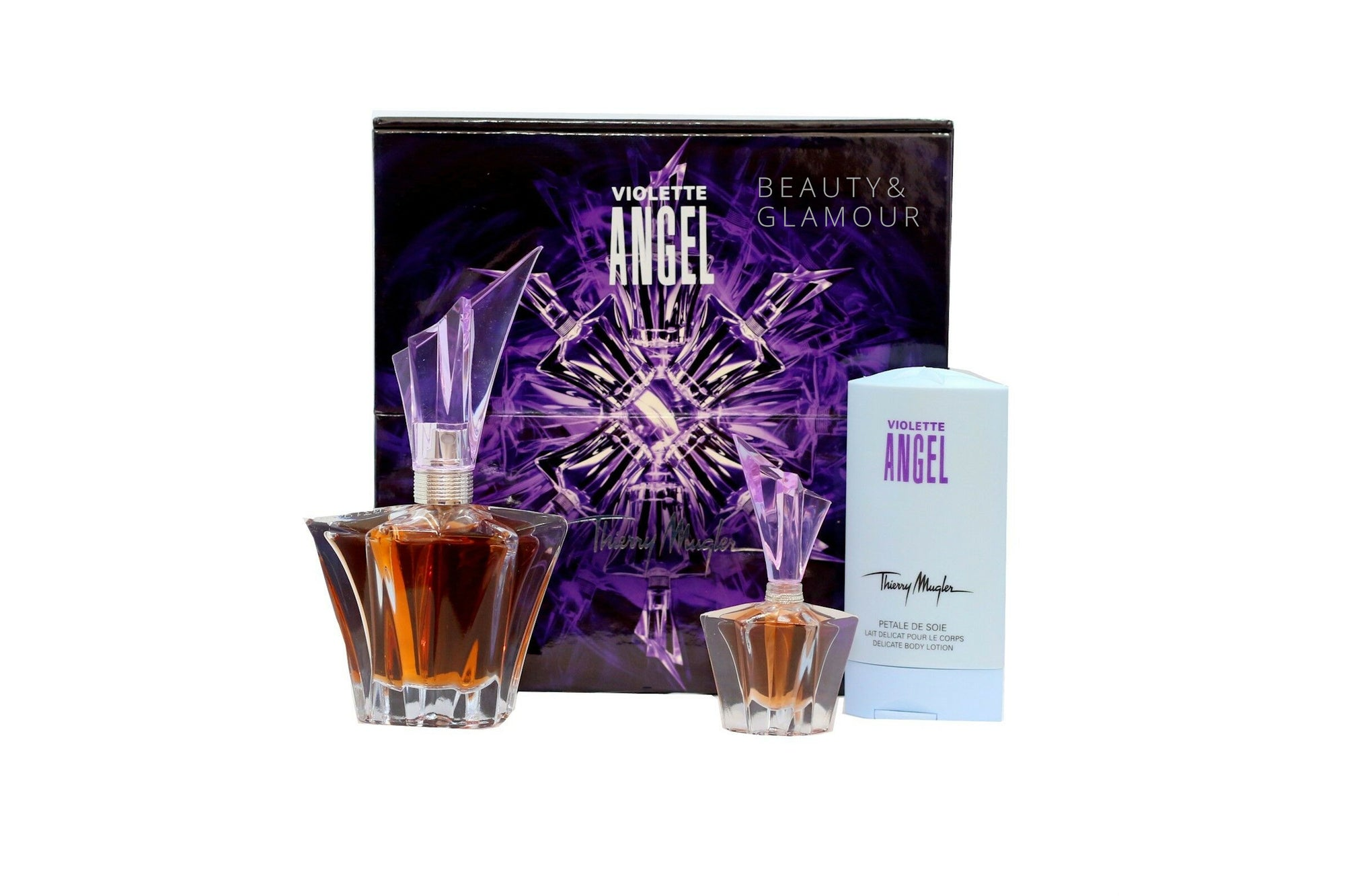 THIERRY MUGLER ANGEL VIOLET 3 PIECE GIFT SET EAU DE PARFUM SPRAY 25ML
