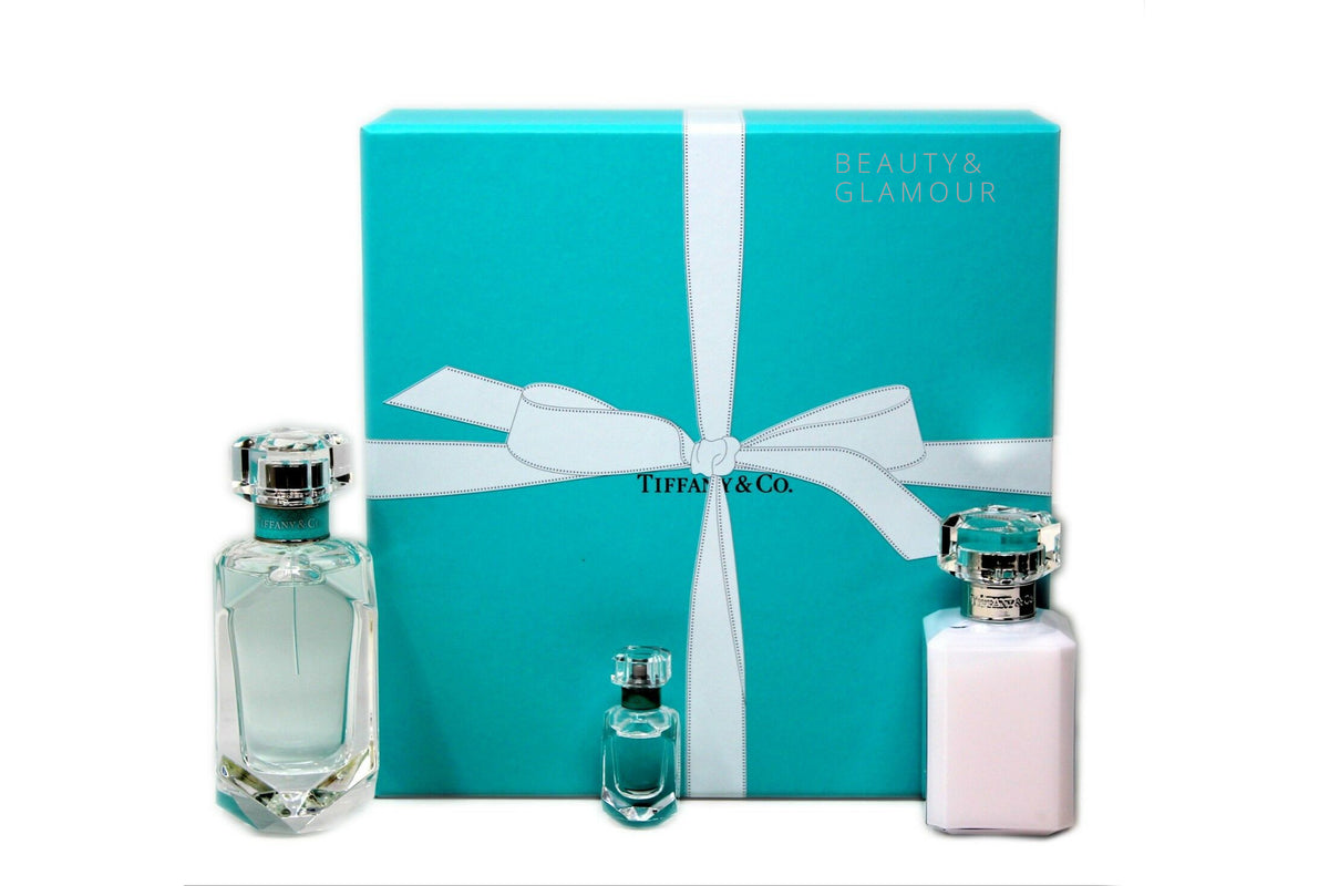 TIFFANY & CO. 3 PIECE GIFT SET EAU DE PARFUM NATURAL SPRAY 75ML