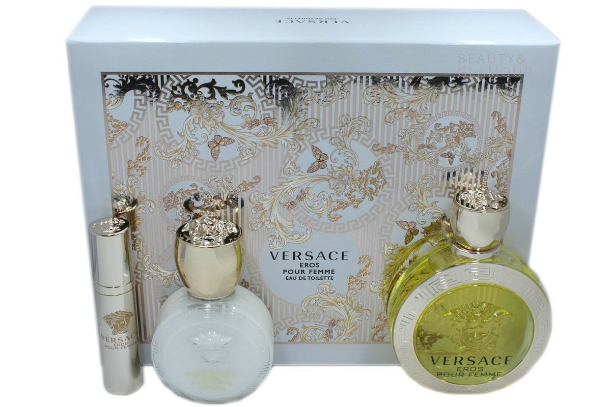 VERSACE EROS POUR FEMME LUXURY BODY LOTION 100 ML/3.4 FL.OZ.
