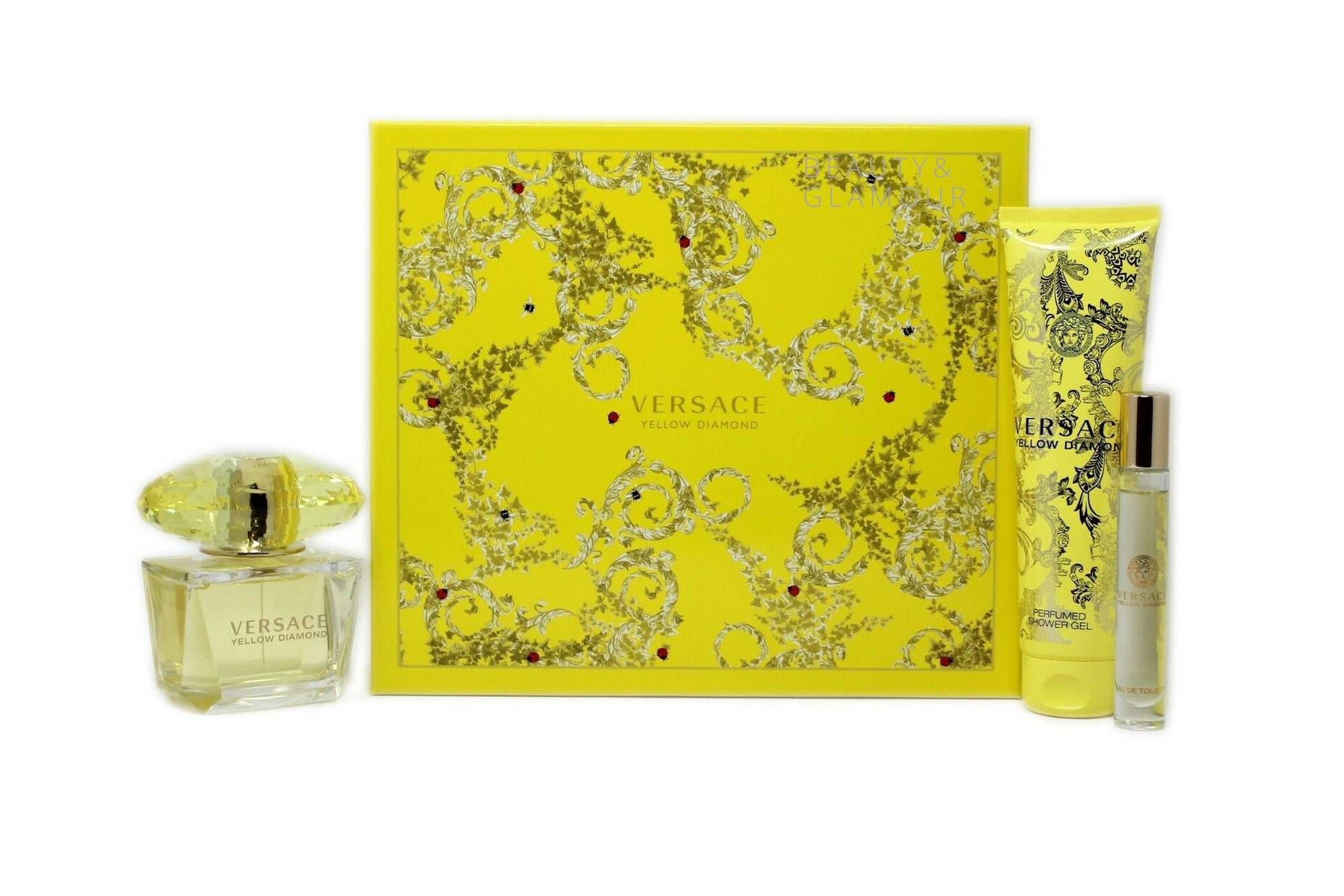 VERSACE YELLOW DIAMOND 3 PIECE GIFT SET FOR WOMEN