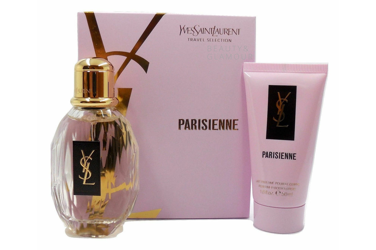 PARISIENNE BY YVES SAINT LAURENT GIFT SET WITH EAU DE PARFUM SPRAY 50ML
