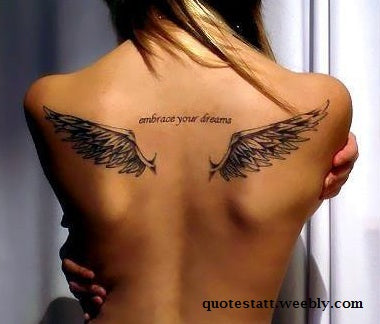 Wonderful BACK Tattoo Quotes That Speak About You