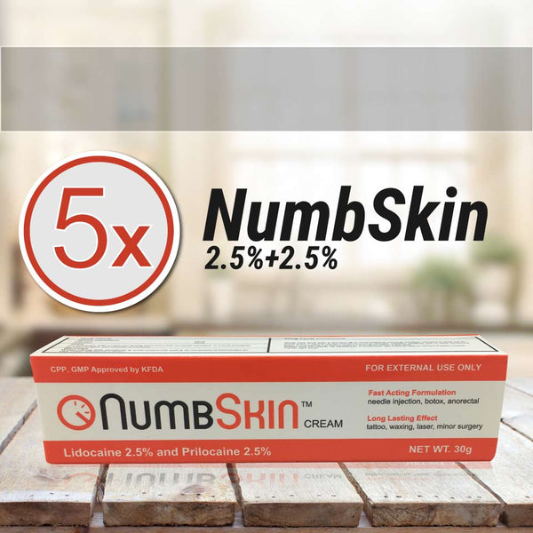 5 Tubes of NumbSkin Red