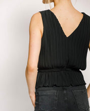 Pleated Crossover Top