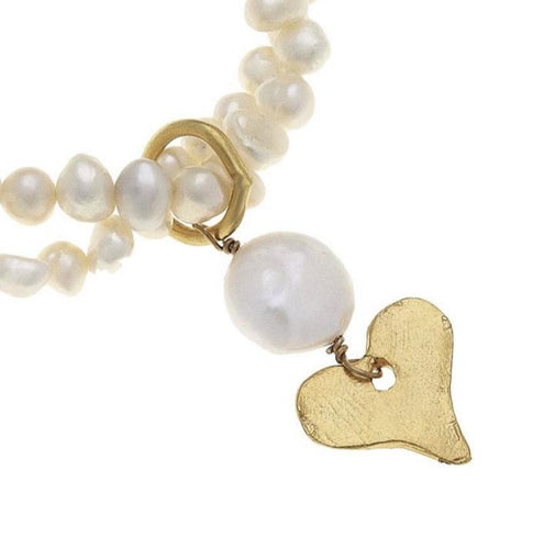 Pearl and Gold Bracelet