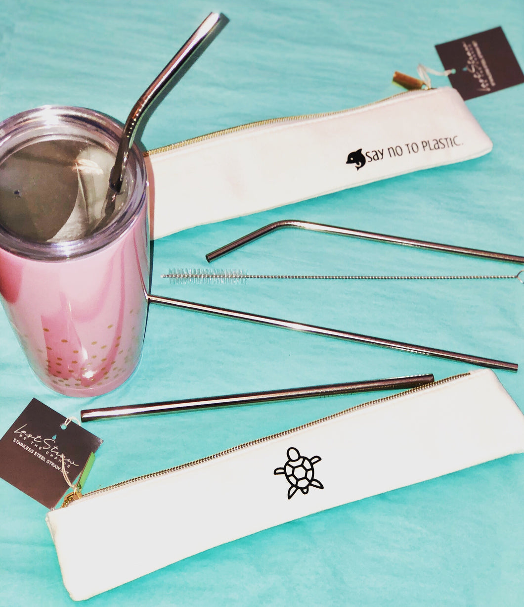 Stainless Drinking Straw Set