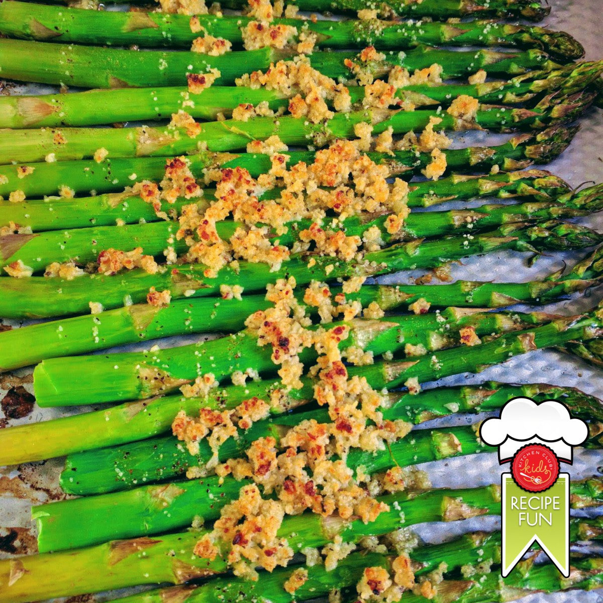 Roasted Asparagus with Panko & Parmesan