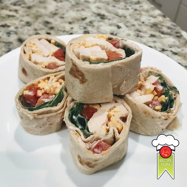 Southwest Chicken Pinwheels
