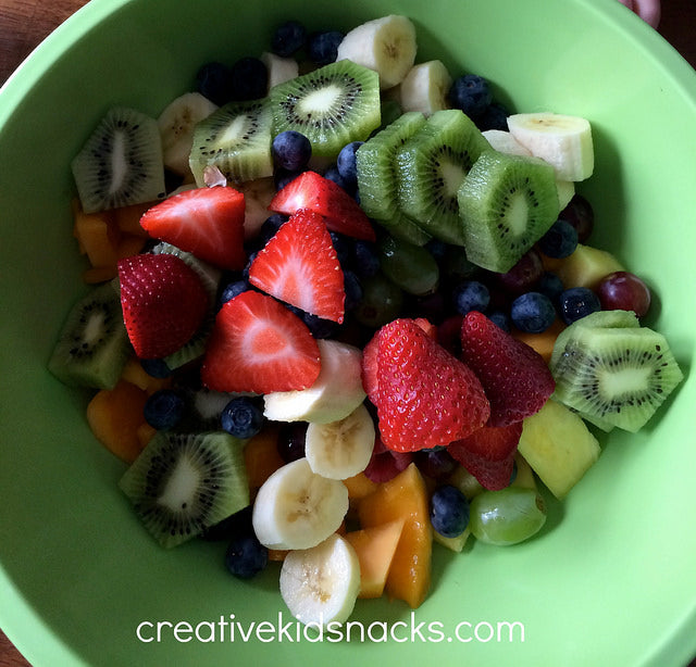 Creative Kids Snacks, Kitchen Club Kids, End of the Rainbow, Fruit Salad