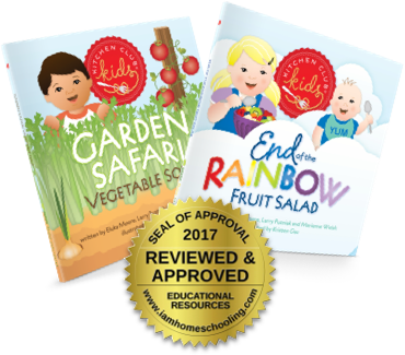 2017 Homeschool Seal of Approval, Kitchen Club Kids, Award Winning, Children's Books