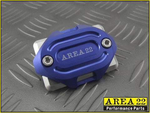 Area 22 -2014 2015 Honda MSX125 Grom CNC Aluminum Brake Reservoir Cover Blue
