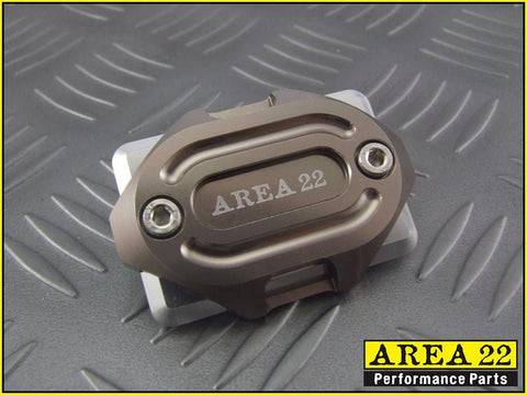 Area 22 -2014 2015 Honda MSX125 Grom CNC Aluminum Brake Reservoir Cover Grey
