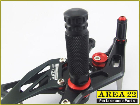 2003-2006 Honda CBR600RR Area 22 Adjustable Rear Sets Footpegs Rearset
