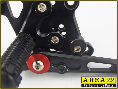 Kawasaki Ninja 300R 2013-2014 Area 22 Adjustable Rear Sets