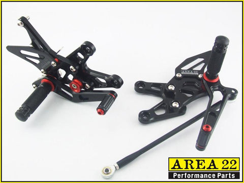 Kawasaki  Ninja ZX-10R 2006-2007 Area 22 Adjustable Rear Sets