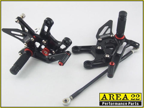 Kawasaki  Ninja ZX-10R 2008-2010 Area 22 Adjustable Rear Sets