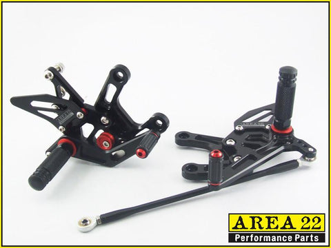Kawasaki  Ninja ZX-10R 2011-2014 Area 22 Adjustable Rear Sets