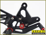 Kawasaki ZX-6R / ZX636 2005-2006 Area 22 Adjustable Rear Sets