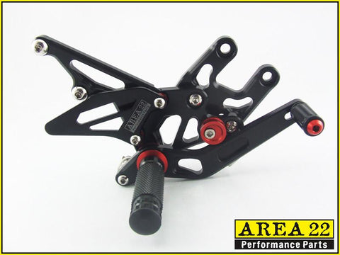 Kawasaki Ninja ZX-10R 2004-2005 Area 22 Adjustable Rear Sets