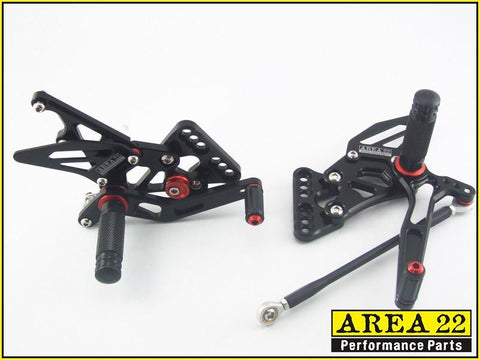 Suzuki GSX-R600 GSXR600 2014+ Area 22 Adjustable Rear Sets