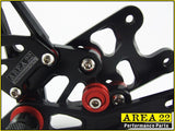 Suzuki GSX-R1000 2007-2008 Area 22 Adjustable Rear Sets