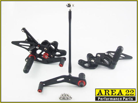 Suzuki GSXR600 GSXR750 2008-2010  Area 22 Adjustable Rear Sets