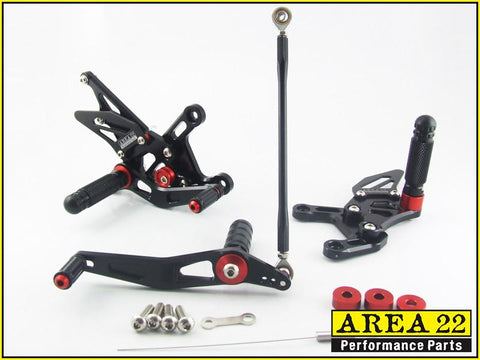 Yamaha YZF-R1 2015+ Area 22 Adjustable Rear Sets