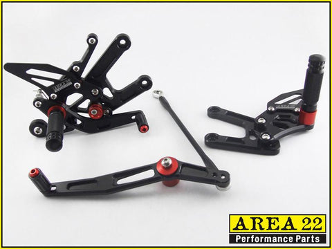 Yamaha YZF-R6 2006-2014 Area 22 Adjustable Rear Sets