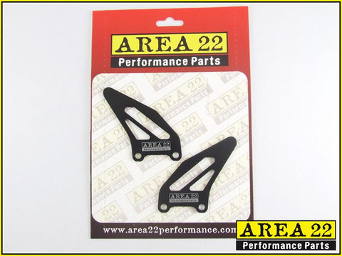 Area 22 Performance Rearsets Spare Aluminium Heel Guard Plates Black