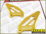 Area 22 Performance Rearsets Spare Aluminium Heel Guard Plates Gold