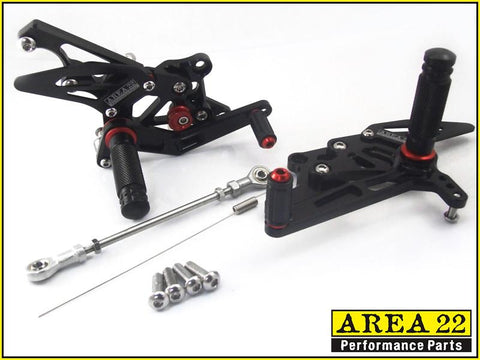 Yamaha YZF-R3 2015-2016 Area 22 Adjustable Rear Sets
