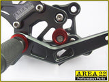 Yamaha YZF-R3 2015-2016 Area 22 Adjustable Rear Sets-Grey