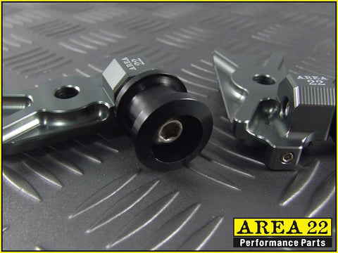 Area 22 CNC Swingarm Spools For Honda CBR250R CBR300R -  Grey