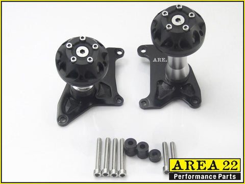 Area 22 2014 2015 Honda MSX125  Crash Protectors Bobbins Black