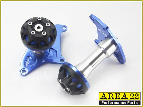 Area 22 2014 2015 Honda MSX125 Crash Protectors Bobbins Blue
