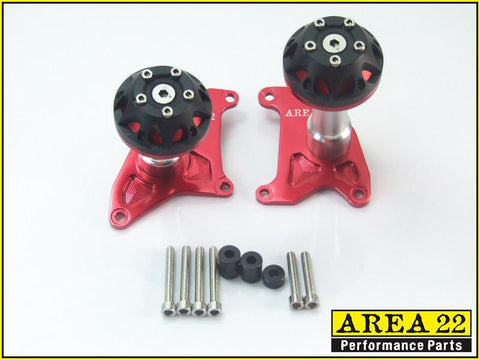 Area 22 2014 2015 Honda MSX125 Crash Protectors Bobbins Red