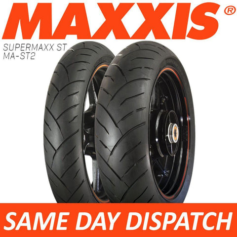 Maxxis Supermaxx ST MA-ST2 Motorcycle Tyre Set 120/70-17 + 180/55-17