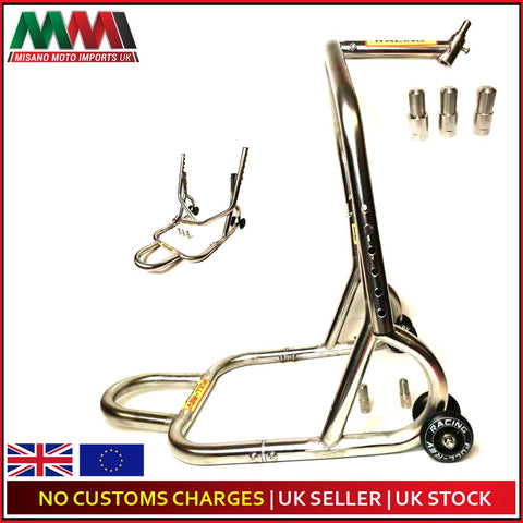 FULL-REV RACING Pro Motorcycle FRONT Paddock Stand Stainless Steel- WARRANTY INC