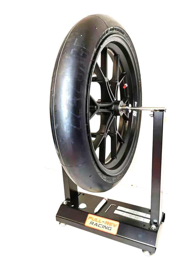 FULL-REV RACING Pro Motorcycle Wheel Balance Stand-Black