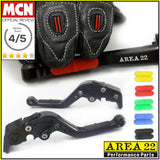 Area 22 Anti-Slip Adjustable Short Motorcycle Brake and Clutch Levers For Ducati
